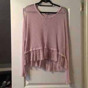 American Eagle light purple see-through sweater!